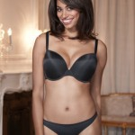 """Porcelain"" molded plunge bra by Panache"