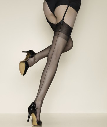 """Seems Perfect Fully Fashioned Stockings"" by Gerbe"