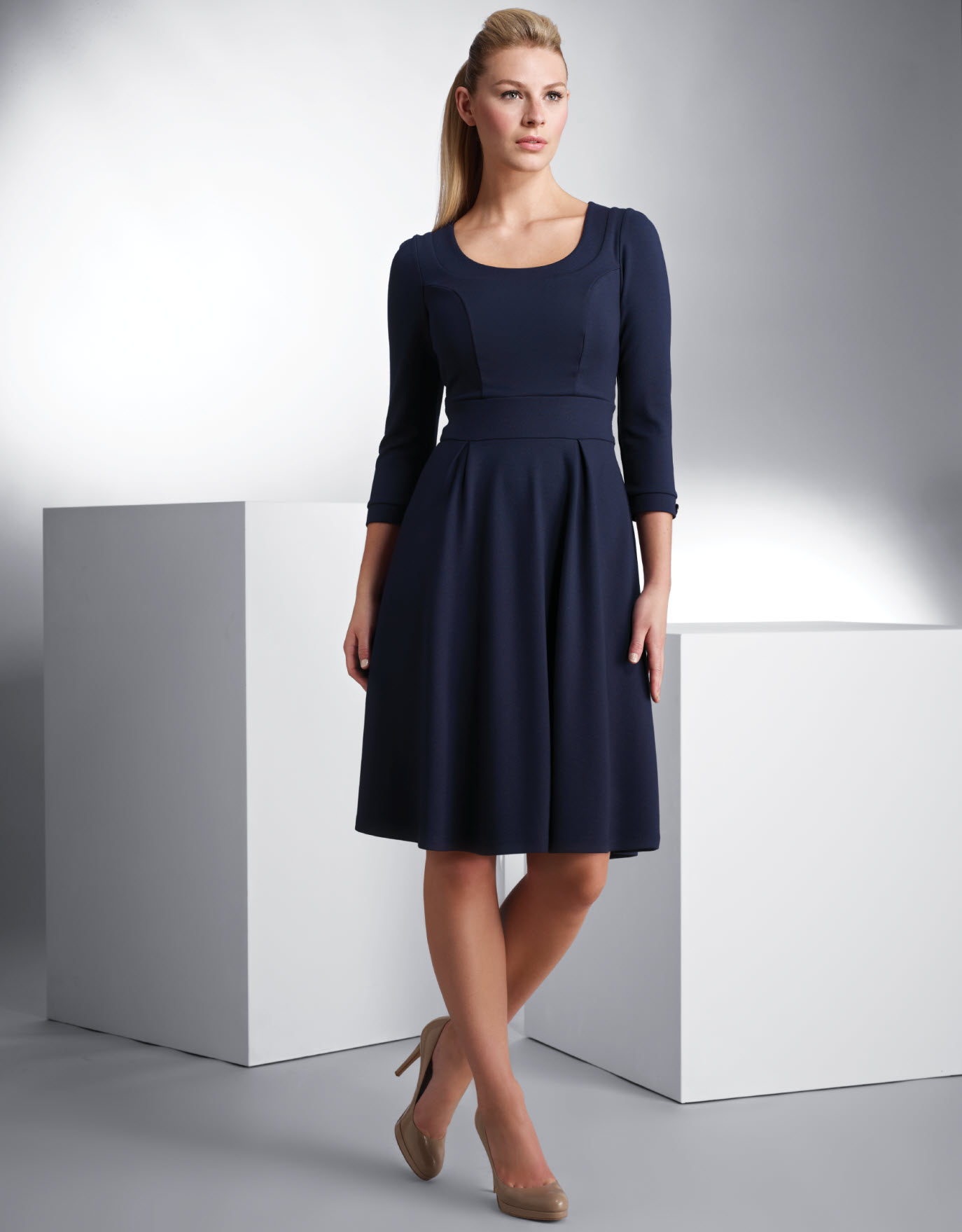 Ponti Skater Dress.  Available in sizes 08-18 (UK) Curvy/Really Curvy and Really Curvy/Super Curvy.  £59.00 (about $94.50 USD)