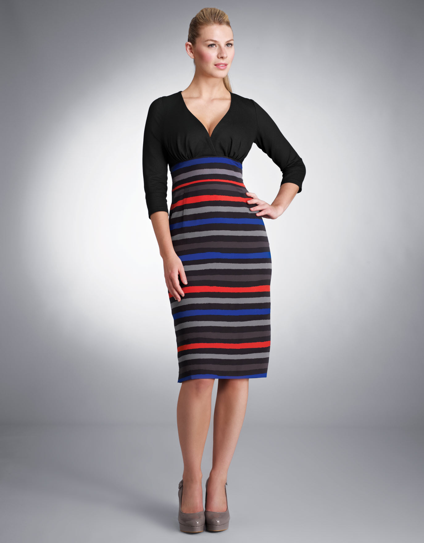 Striped Skirt Dress.  Available in sizes 08-18 (UK) Curvy/Really Curvy and Really Curvy/Super Curvy.  £69.00 (about $110.50 USD)