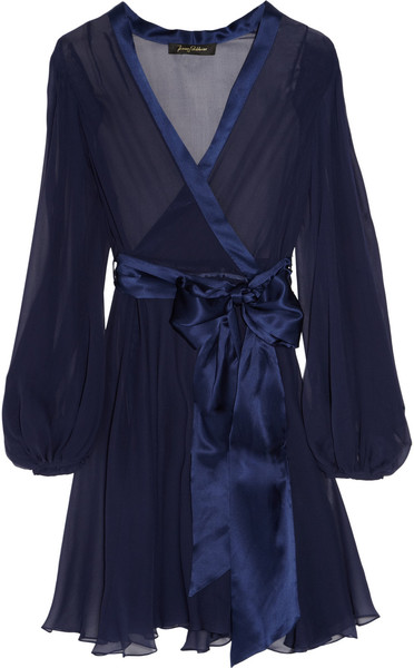Silk Chiffon Wrap by Jenny Packham.  Add boob room and hand me a winning lottery ticket, and I'll take it!
