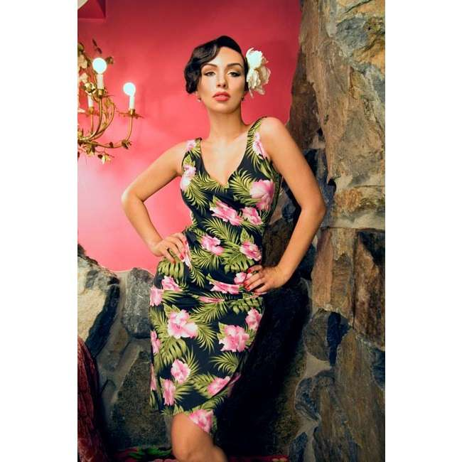 Tiki print dress by Pin Up Couture