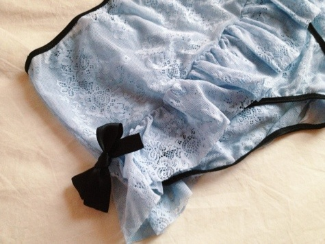 Forget-Me-Not High-Waisted Knickers by Arabel Petites