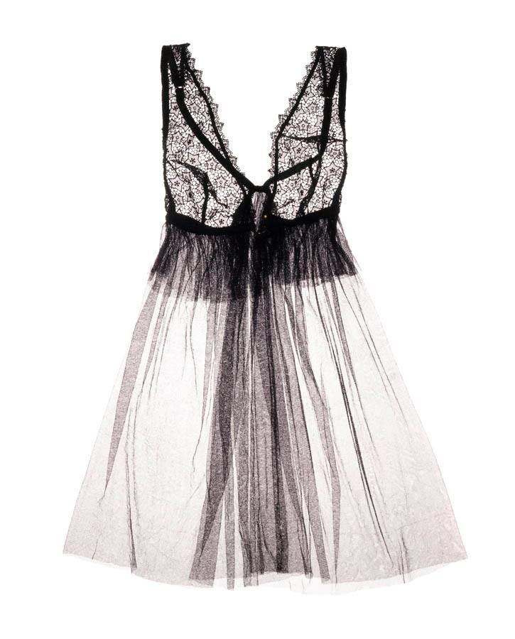 """Sleeping Beauty"" Silk Tulle Babydoll by Damaris"
