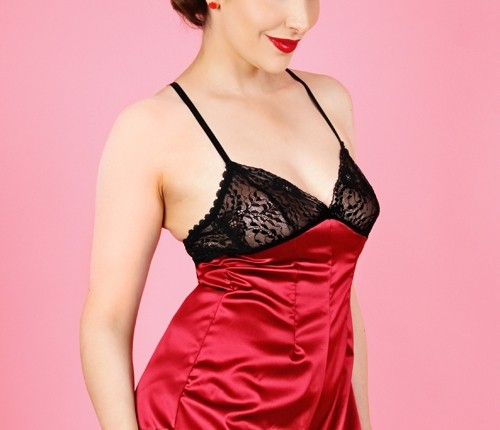 Kiss Me Deadly Claret Cherie Teddy