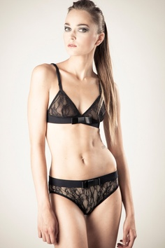 """Silvia"" lace bra and brief by Kriss Soonik (£57.00/£49.00).  Bra and knickers sizes S, M, L."