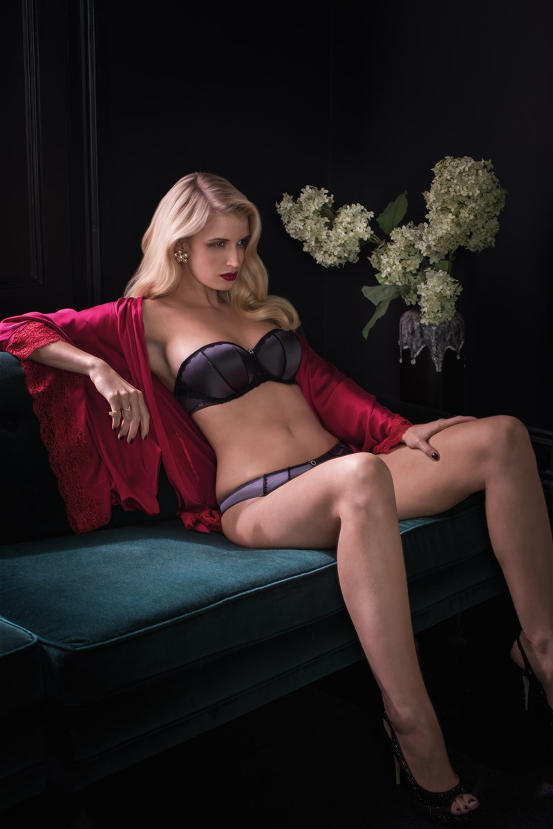 """Utopia"" Strapless Bra and Brief by Masquerade.  28-38 D-G."