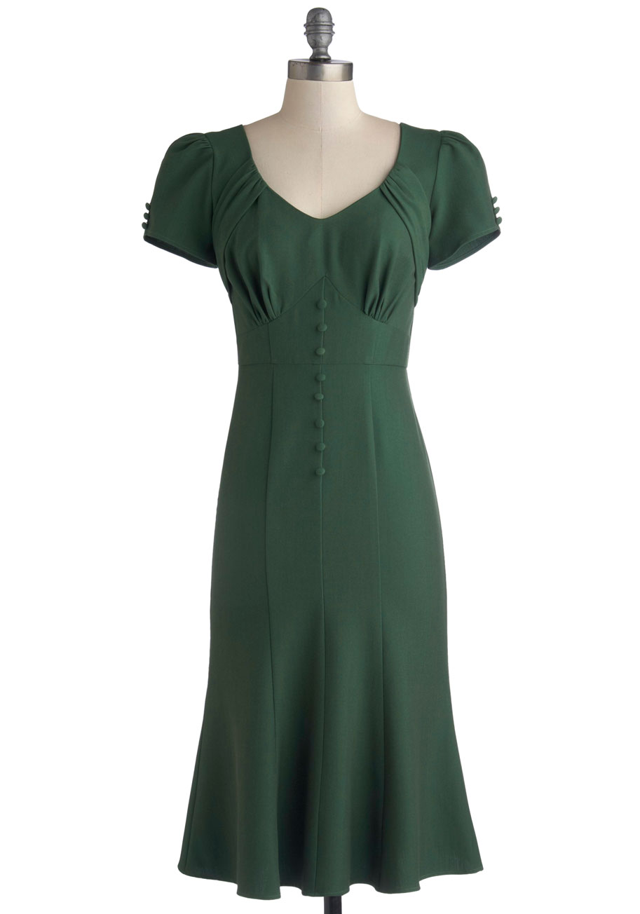 """""""Down to a Pine Art Dress"""" ($167.99, certain sizes) by Stop Staring! at Modcloth.  Available in sizes XS-1X."""