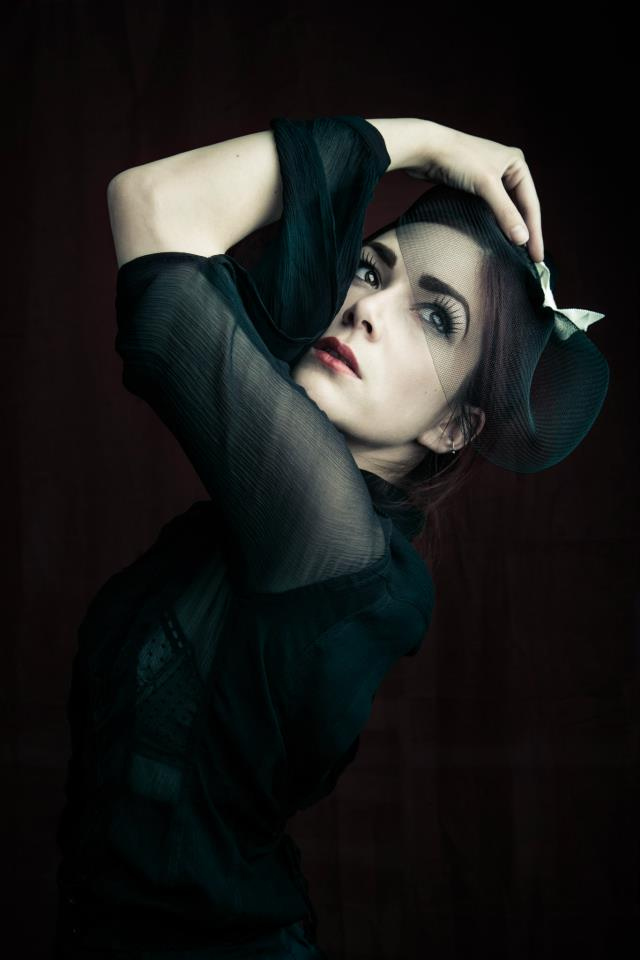 Model/Makeup: Victoria Dagger.  Photographer: Joel Aron.  Fascinator: Pop Antique.
