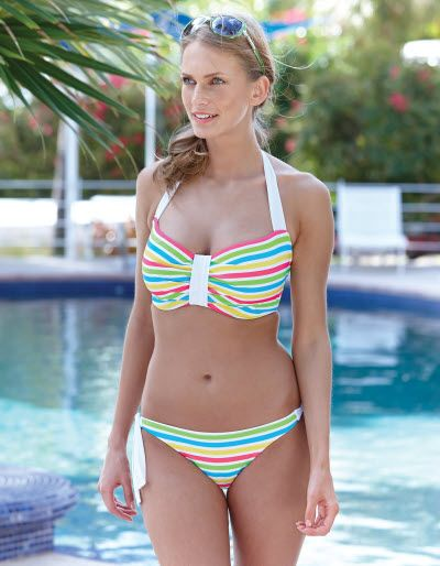 """Bon Bon"" Bikini and Side-Tie Brief by Hoola (28 DD-GG, 30-36 D-GG, 38 D-G XS-XL UK) (Bravissimo exclusive)"