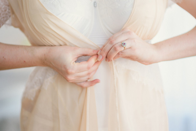 "Bridal Boudoir- Sweet Nothings wears Masquerade Serenity Collection, Harlow & Fox ""Eleanor"" Robe"