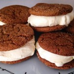 Lemon-Gingersnap Ice Cream Sandwiches
