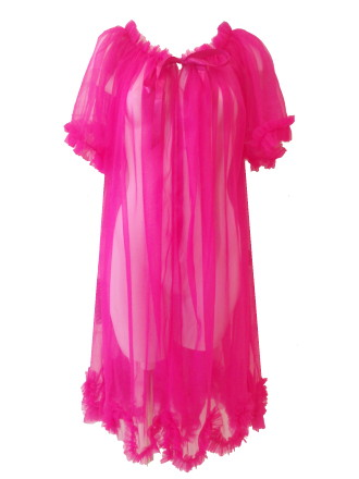 Sheer Frou Frou Dressing Robe ($134) (Size 1/Size 2) in Hot Pink by Dottie's Delights