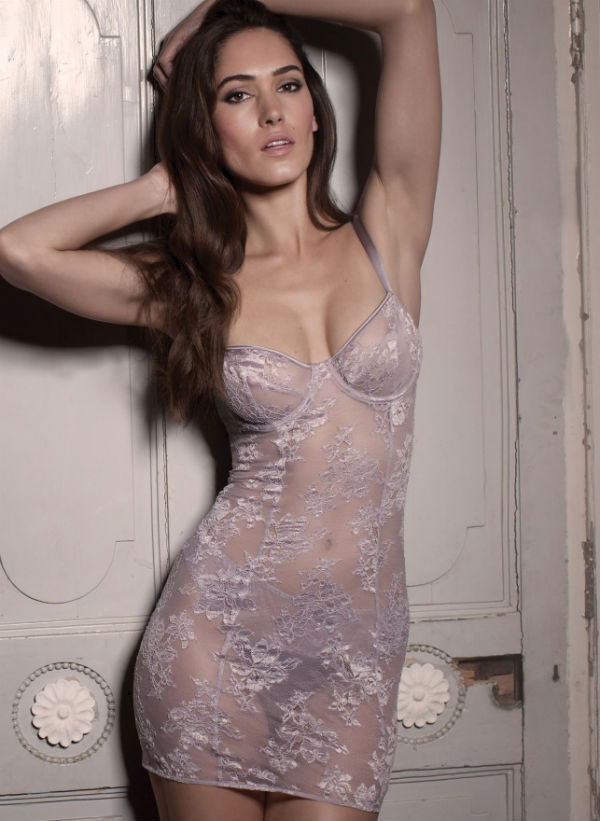 Heather Lace Babydoll (£250) (S, M, L) by Fleur of England