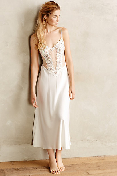 Iced Ivory Gown by Flora Nikrooz ($135) via Anthropologie