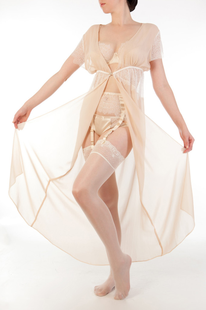 Eleanor Almond Robe ($589) (S, M, L) by Harlow & Fox