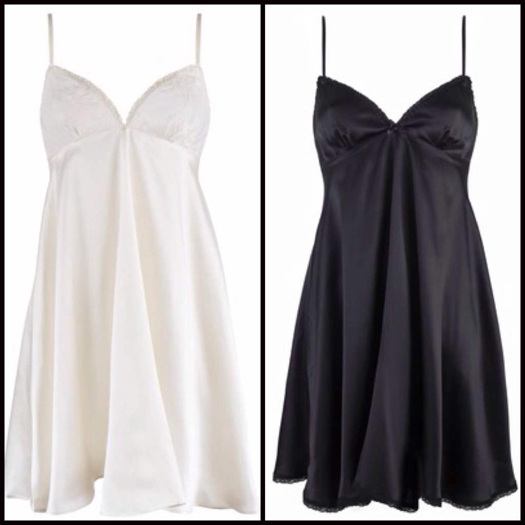 Isla silk slip in ivory and black (£126, about $198) by Ayten Gasson