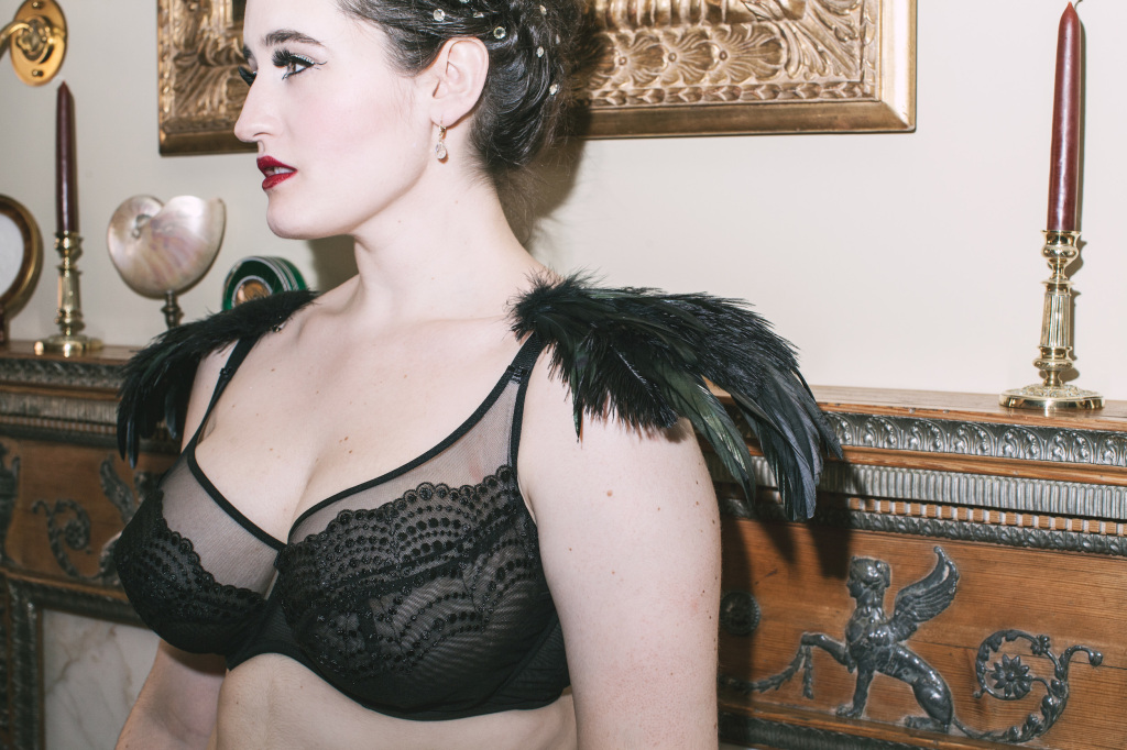The Sweet Nothings Holiday Edit- Swan Lake. Lingerie by Lulu Tout, Harlow and Fox, photo by Lydia Hudgens, flowers by Mimosa Floral.