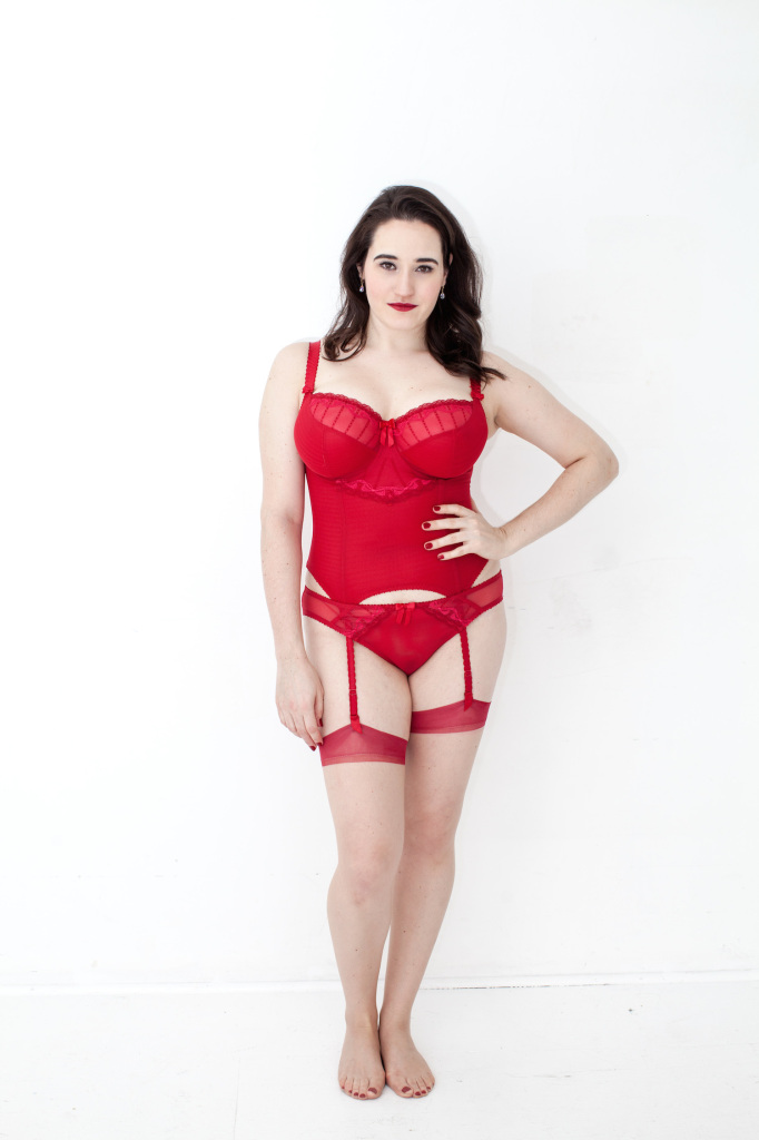 Sweet Nothings reviews Bravissimo Lola Luxe Basque in Scarlet