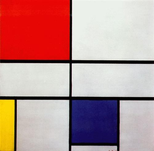 Composition C (No. III) with Red, Yellow and Blue. Piet Mondrian, 1935