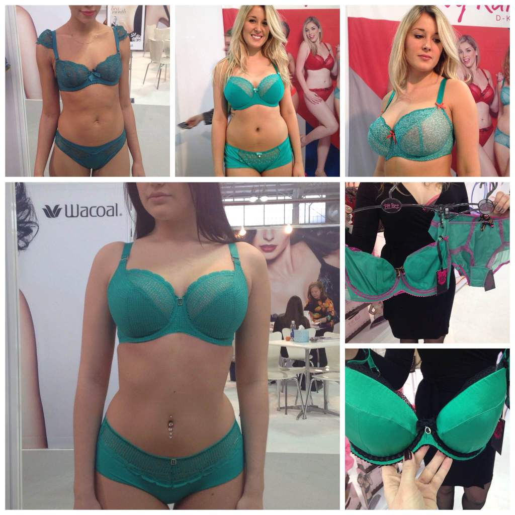Sweet Nothings CurveNY Trend Report FW2015- Green: Clockwise from top left: Huit 'Nouvel Emoi', Curvy Kate 'Cascade' and 'Madagascar', Tutti Rouge 'Nichole' and 'Beatrice', Freya 'Rio'
