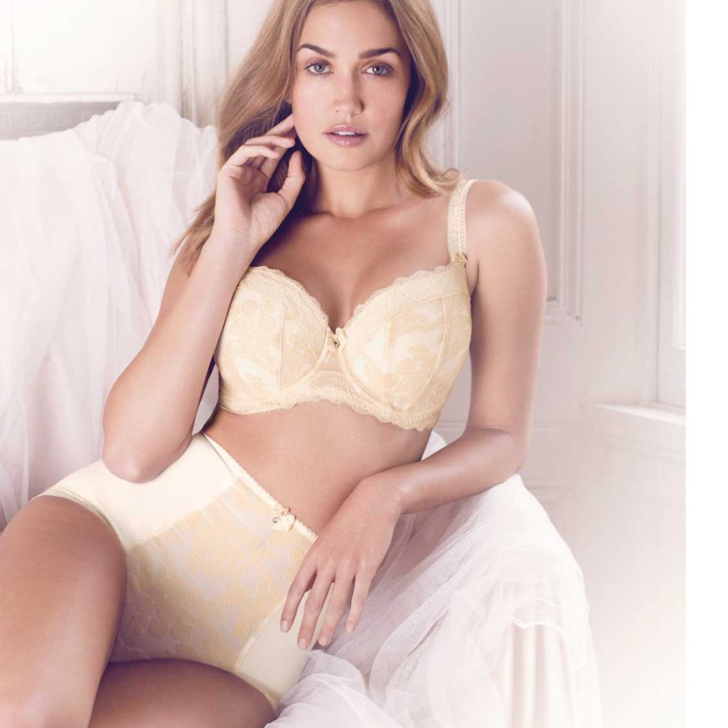 Wedding Bride Underwear the full bust bride gorgeous d bridal lingerie sweet nothings nyc mae half cup bra in champagne by fantasie 30 g 32 38