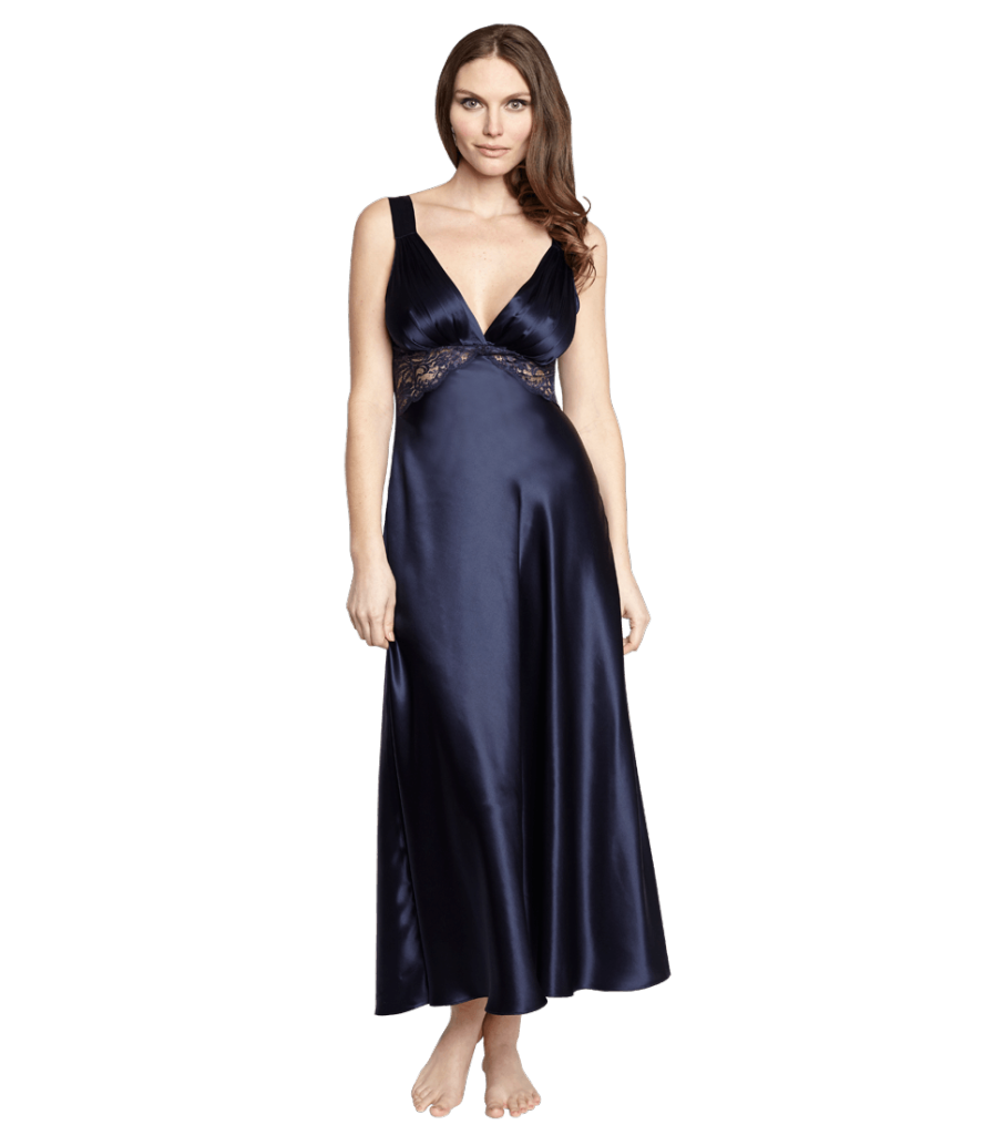 Christine Lingerie Glamour Gown in Midnight