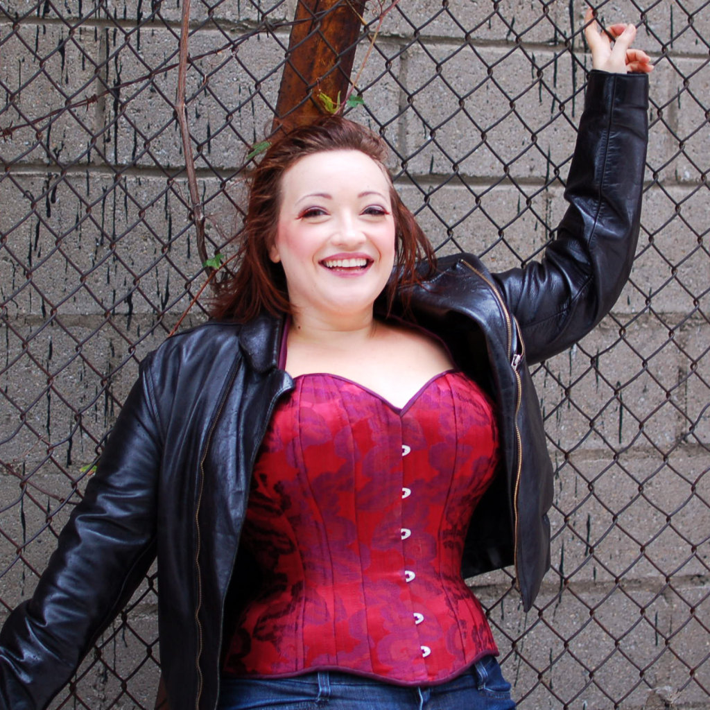 A custom overbust corset by Angela Friedman