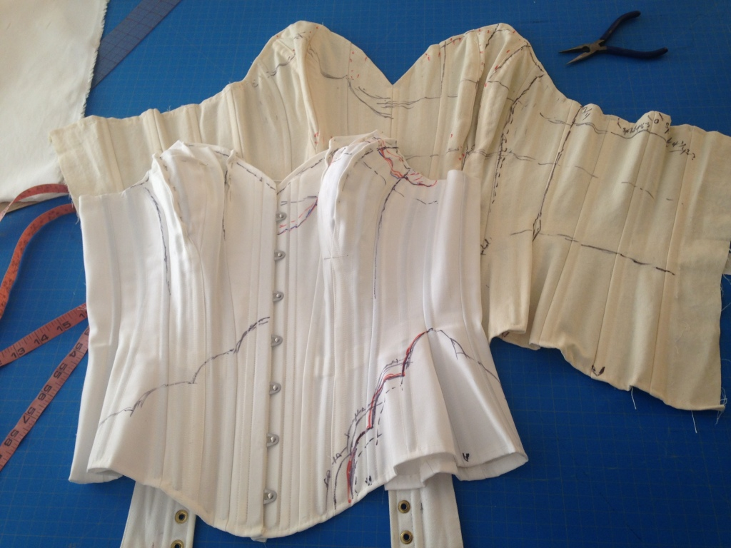 Sweet Nothings' custom Angela Friedman corset mockups