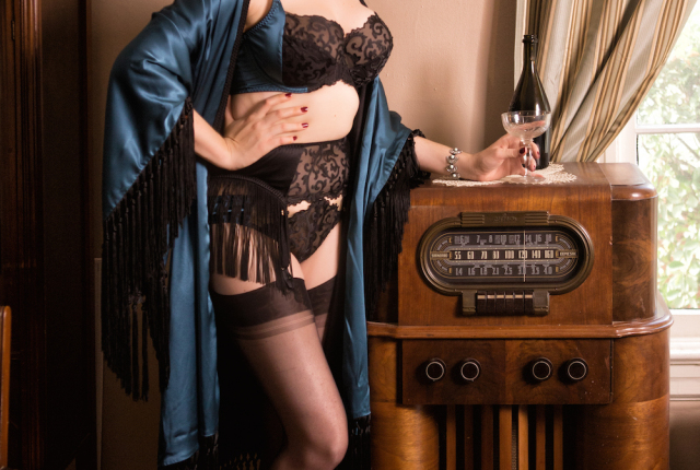 Sweet Nothings Holiday 2015: Women of Mystery- Miss Fisher. Photo: Steven Rosen Photography