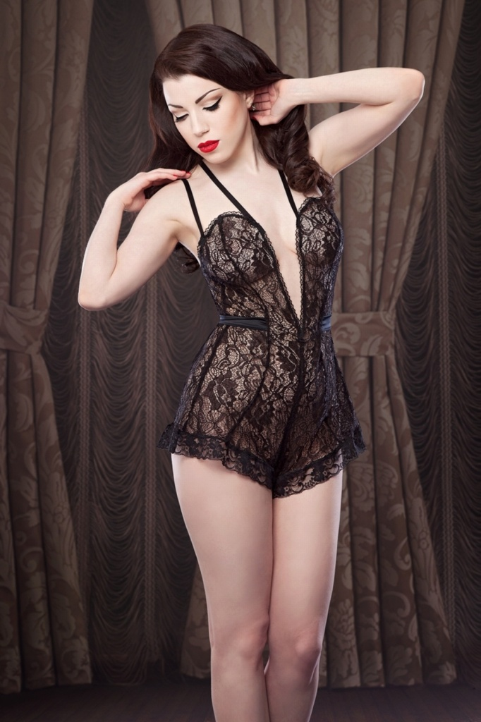 The Nell Teddy by Betty Blue's Loungerie, XS-XL