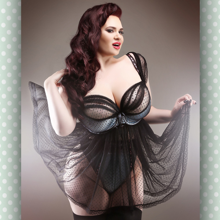 Curvy Emilie Bra with detachable Babydoll Skirt by Buttress & Snatch