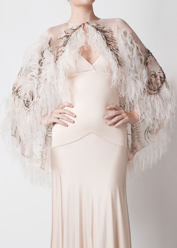 Celeste Stellar Plumes Capelette (Small, Medium, Large, available in Black and Vintage)
