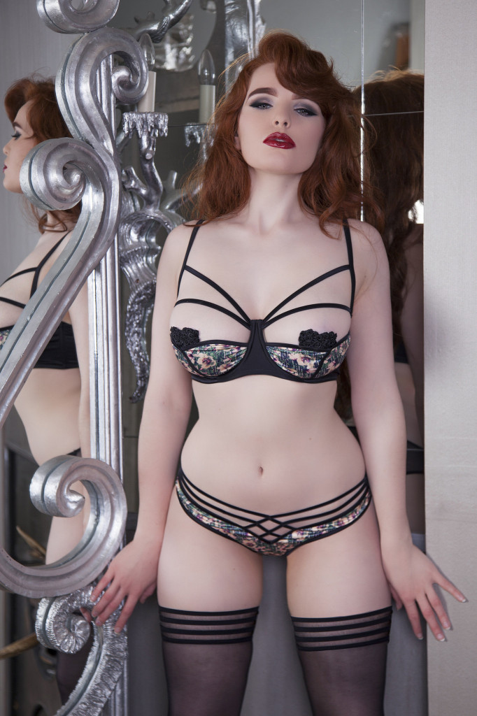 Playful Promises Lotus Petal DD-G Bra and Brief. Sizes 30-36 DD-G and XS-XL (UK).