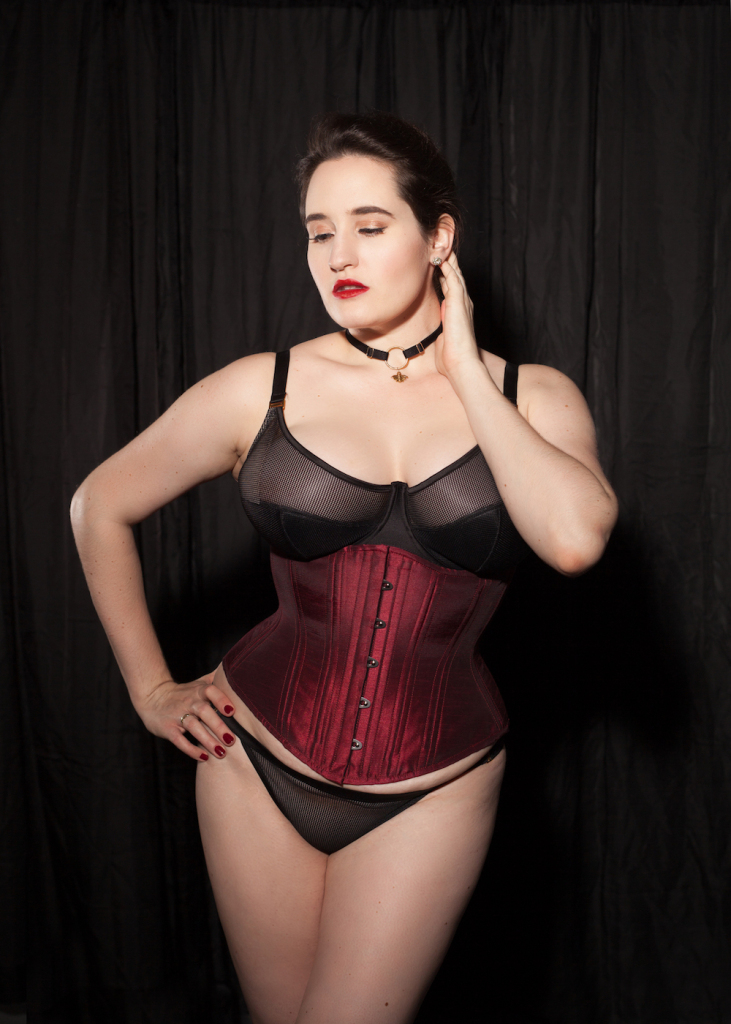 ba9cc54b71 Sweet Nothings reviews Timeless Trends Burgundy Hourglass Corset. Photo (c)  Studio Rezin