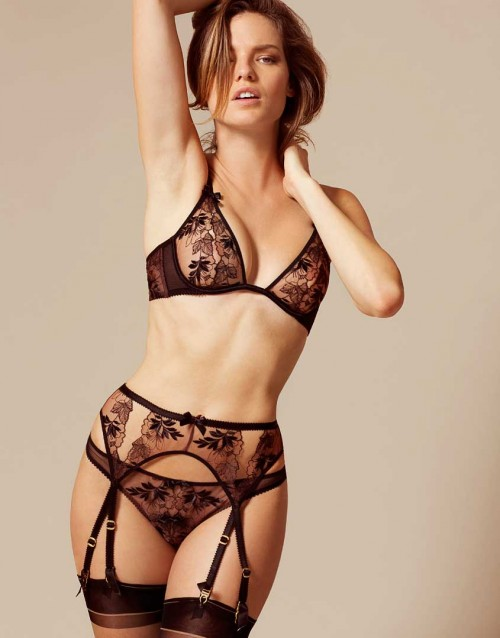 Agent Provocateur Petra Bra, Brief, and Suspender Belt