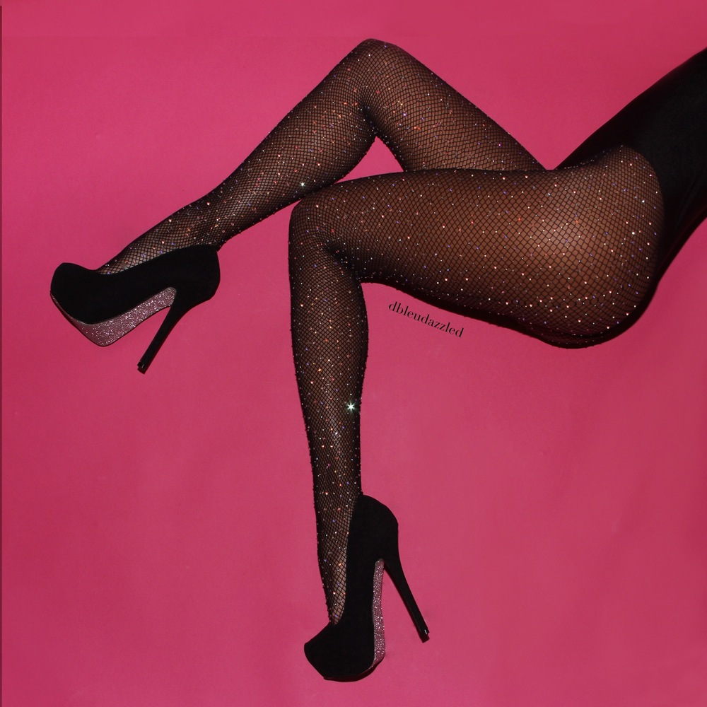 DBleuDazzled Midnight Sky Fishnet Tights