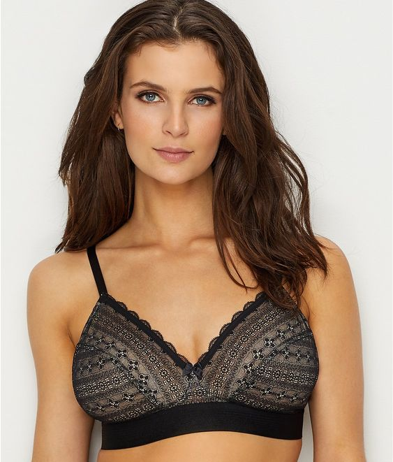 "Cleo by Panache ""Lyzy"" Triangle Bralette, 28-38 DD-G. I just saw a great dark jade/raspberry colorway for this style at Curve for Spring/Summer 2019!"
