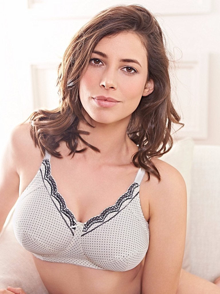 Royce 'Ava' Non Wired Bra, 30-42 FF-K, also available in black. Royce specializes in wire-free bras, including maternity and post-surgical styles.