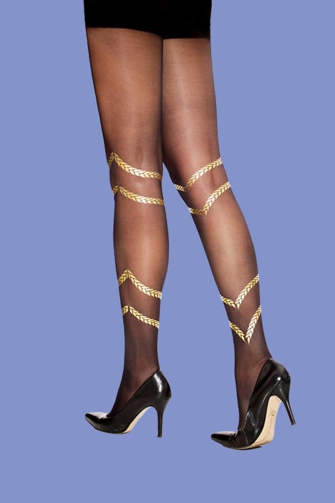 SternTights Gold Braids Sheer Tights