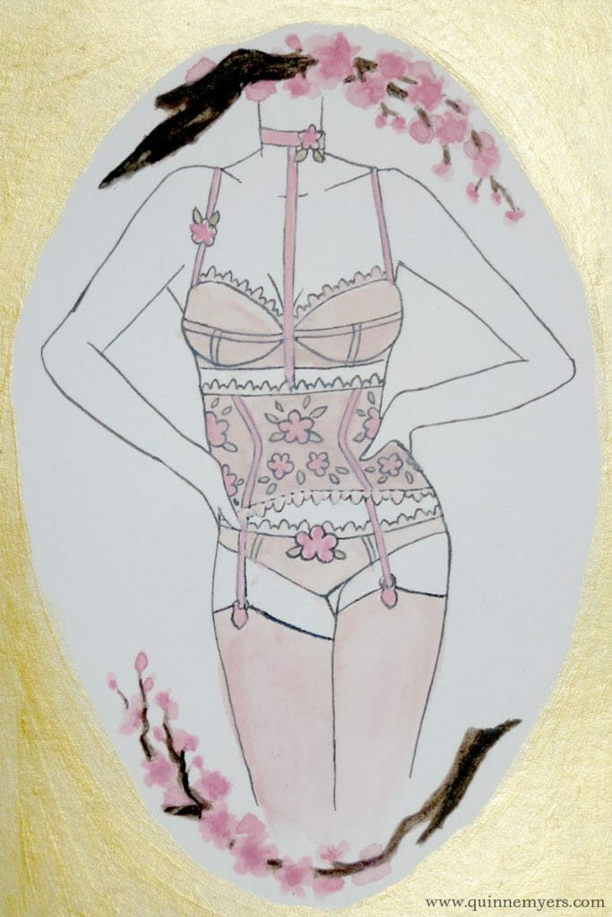 Lingerie Zodiac (Libra) painting by Quinne Myers