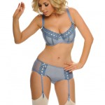 """Tease Me"" padded bra with matching suspender short by Curvy Kate"