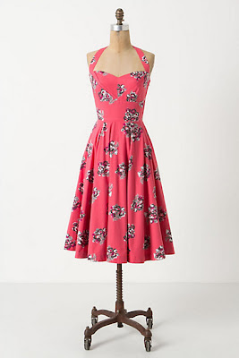 """Akebono"" Halter Dress by Girls From Savoy, via Anthropologie (sold out)"