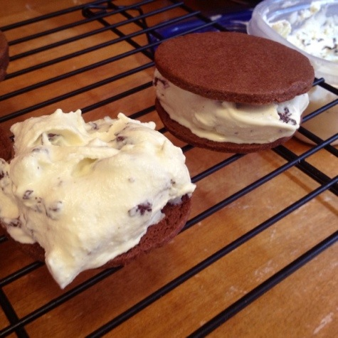 Chocolate Mint Ice Cream Sandwiches