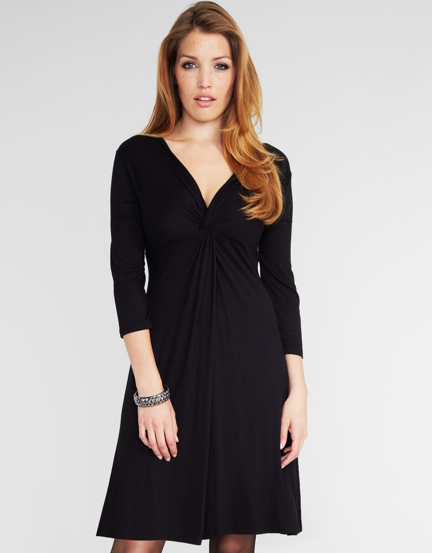 Midnight Grace Iris DD+ Dress in Black