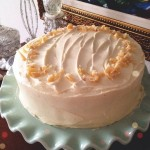 Pumpkin Spice Cake with Ginger Cream Cheese Frosting