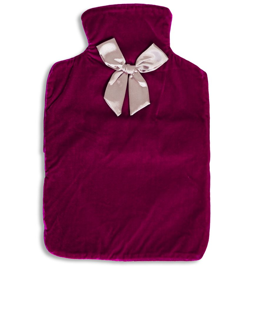 Velvet Hot Water Bottle by Ruby & Ed ($62).  Available in Orchid Pink (pictured) or Ruby.