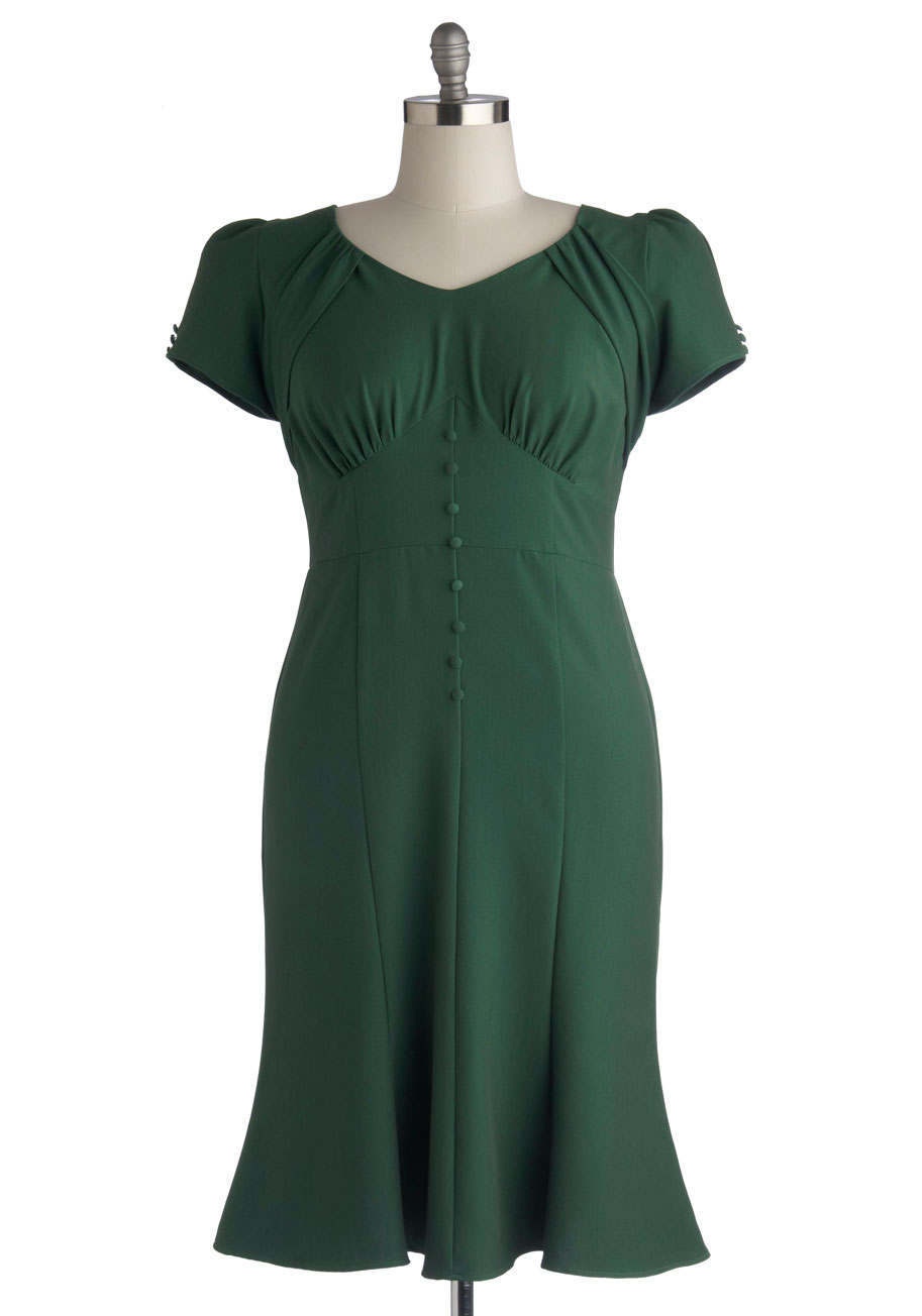 """Down to a Pine Art Dress"" ($189.99, certain sizes) by Stop Staring! at Modcloth.  Available in sizes 16-26."