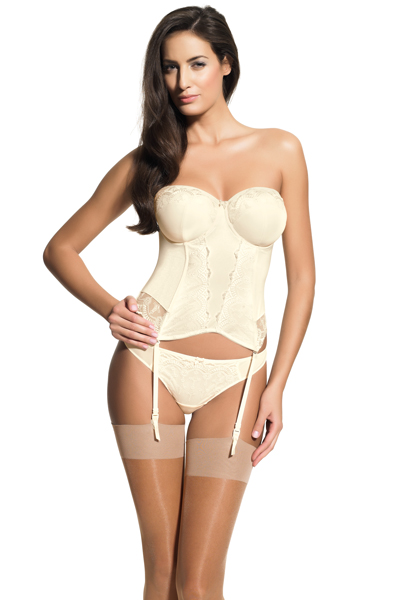 """""""Evie"""" bridal basque by Panache.  Available in sizes 30-38 D-H (UK cup sizes)"""