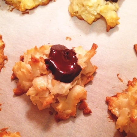 Chewy Crispy Coconut Macaroons at www.sweetnothingsnyc.com